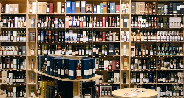 Whisky shelves